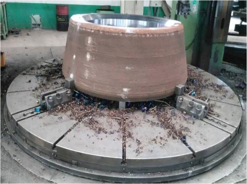 立磨轴辊焊补修复